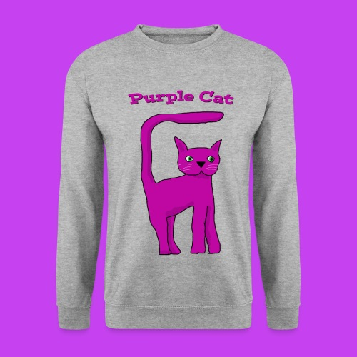 Purple Cat Sweat - Men's Sweatshirt
