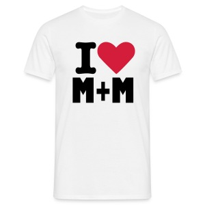 I heart M+M - Men's T-Shirt