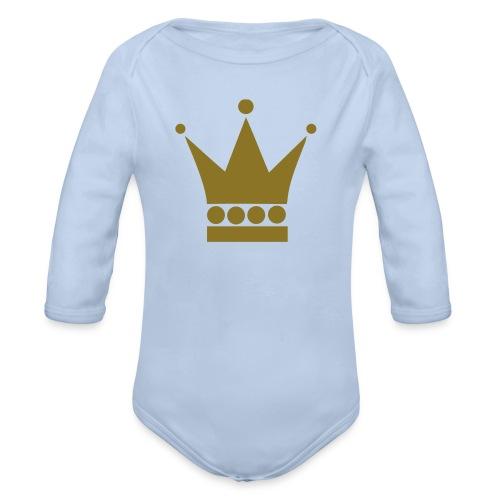 Koning/Koningin Baby - Baby bio-rompertje met lange mouwen