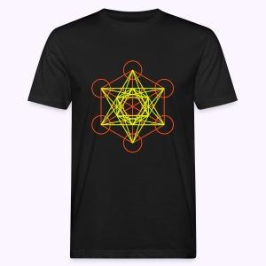 Metaton Cube UV-Neon Men's Bio Shirt - Mannen Bio-T-shirt