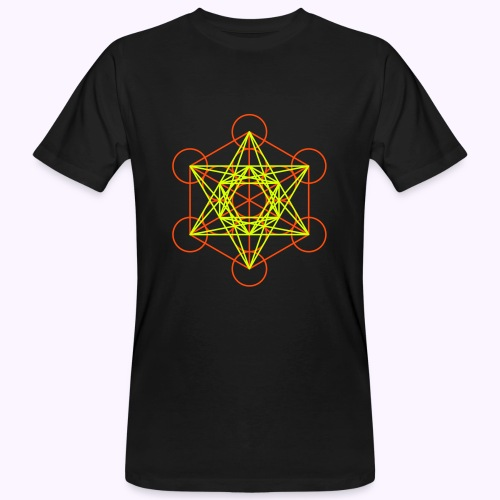 Metaton Cube UV-Neon Men's Bio Shirt - T-shirt bio Homme