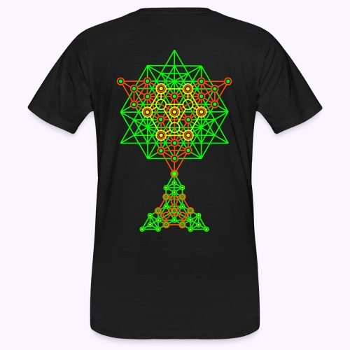 Equilibrium 2-Side UV-Neon Men's Bio Shirt - Men's Organic T-Shirt