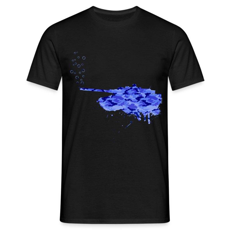 soap bubbles splash tank - Aqua Camo - Männer T-Shirt