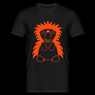 T-Shirts ~ Männer T-Shirt ~ Igel orange/schwarz
