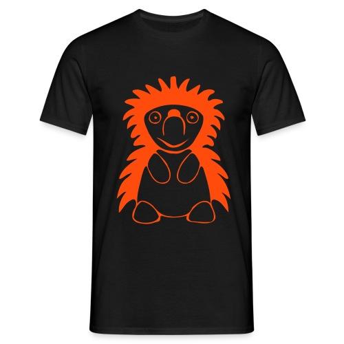 Igel orange/schwarz - Männer T-Shirt