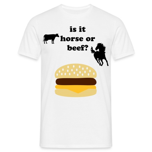 horse or beef burger - Men's T-Shirt
