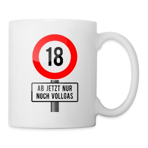 Tasse zum 18. Geburtstag - Tasse