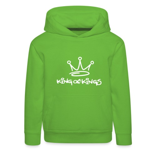 King of kings, Hood (white) - Kids' Premium Hoodie