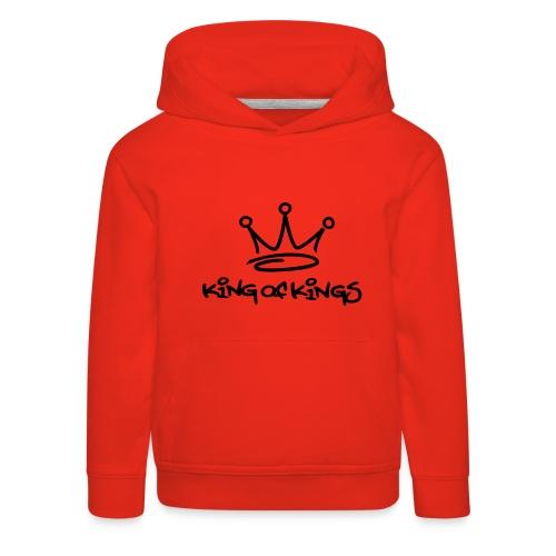 King of kings, Hood (black) - Kids' Premium Hoodie