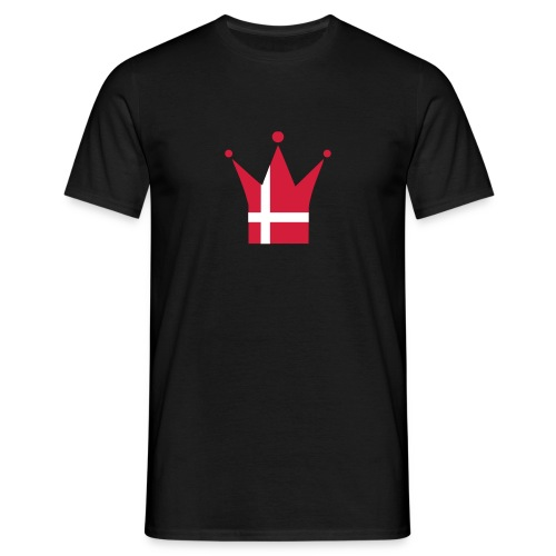 Denmark Crown (red & white) - Men's T-Shirt