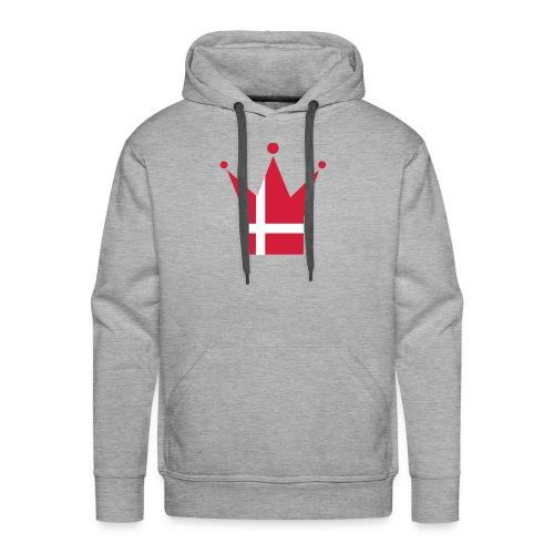 Denmark Crown; Hood (red & white) - Men's Premium Hoodie
