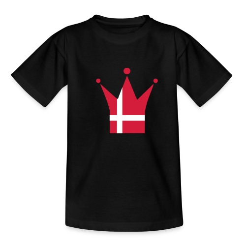 Denmark Crown (red & white) - Teenage T-Shirt