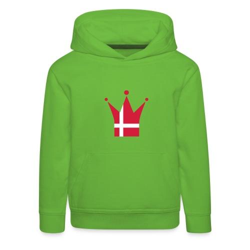 Denmark Crown, Hood (red & white) - Kids' Premium Hoodie