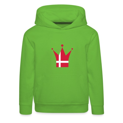 Denmark Crown, Hood (red & white) - Kids' Premium Hoodie