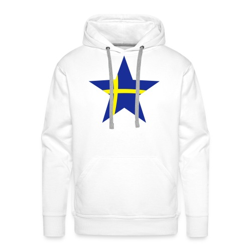 Sweden Star, Hood (blue & yellow) - Men's Premium Hoodie