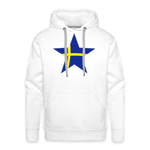 Sweden Star, Hood (blue & yellow) - Men's Premium Hoodie
