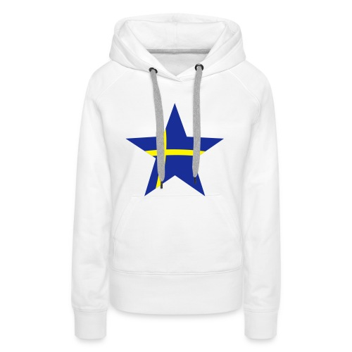 Sweden Star, Hood (blue & yellow) - Women's Premium Hoodie