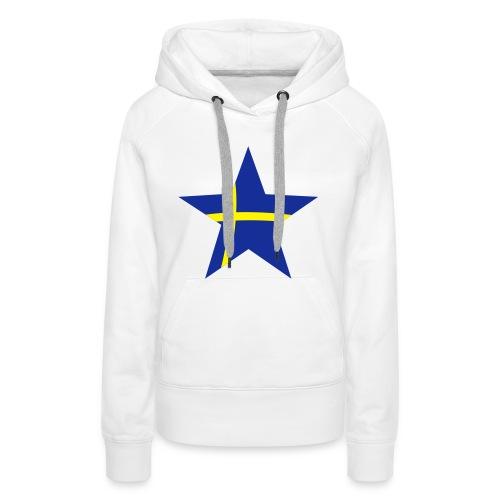 Sweden Star, Hood (blue & yellow) - Women's Premium Hoodie