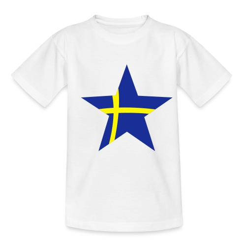 Sweden Star (blue & yellow) - Teenage T-Shirt