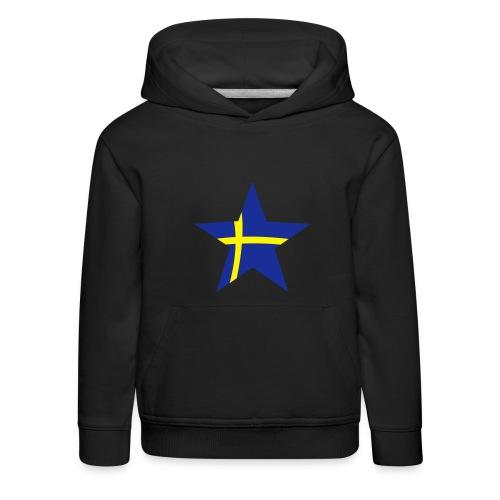 Sweden Star, Hood (blue & yellow) - Kids' Premium Hoodie