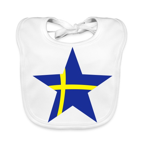 Sweden Star, Babybib (blue & yellow) - Baby Organic Bib