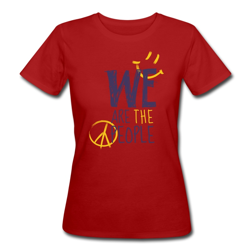 Peace Smiley dark - Women Bio T-Shirt - Frauen Bio-T-Shirt