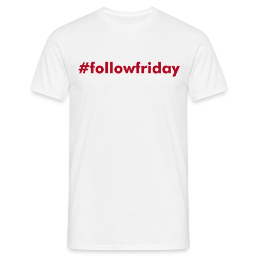 #followfriday | pure white - Men's T-Shirt