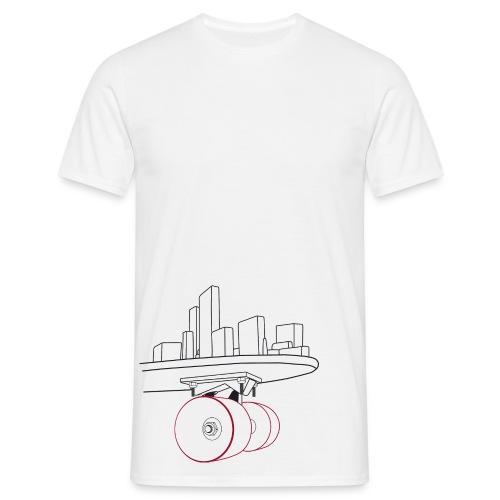 Skateboard Basic white - Mannen T-shirt