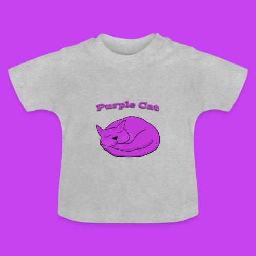 Baby Sleeping Purple Cat T - Baby T-Shirt