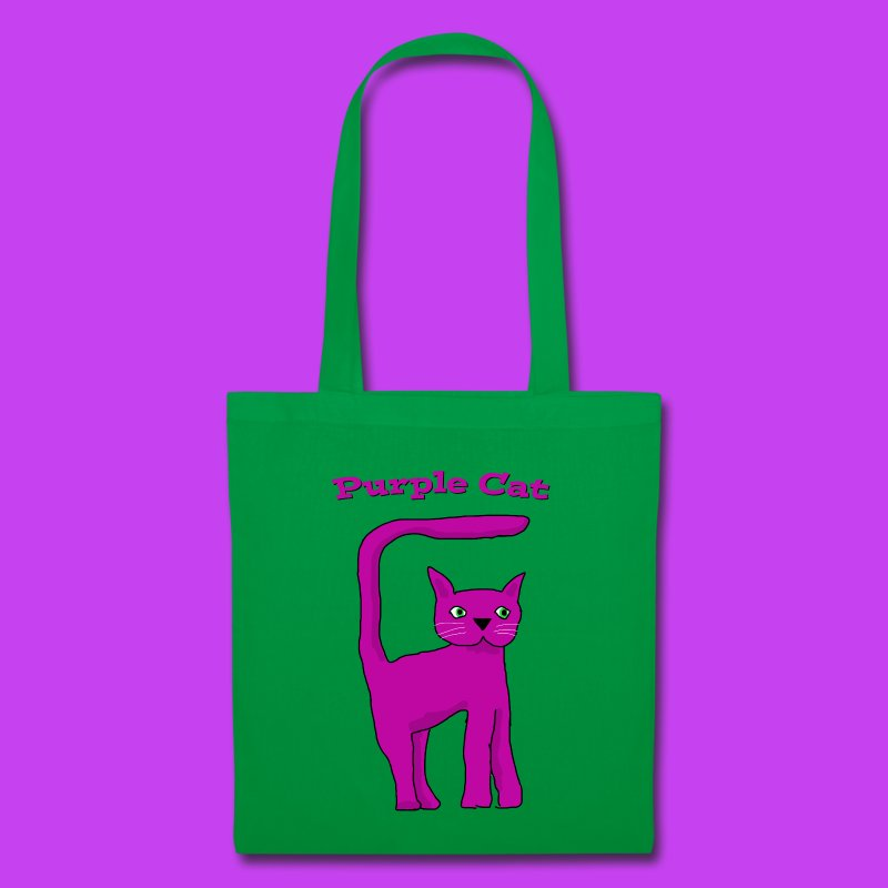 Purple Cat Tote Bag - Tote Bag