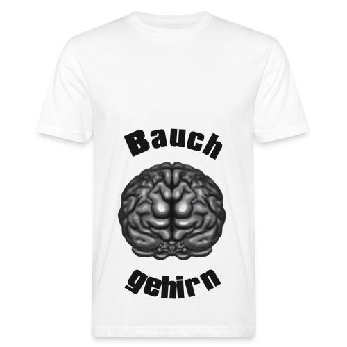 Bauchgehirn Direktdruck - Männer Bio-T-Shirt