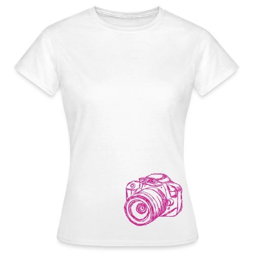 Shirt Kamera (weiß) - Frauen T-Shirt