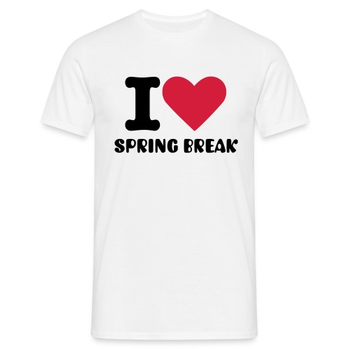 I Love Spring Break :MEN - Männer T-Shirt