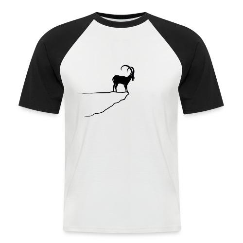 tier t-shirt steinbock alpen berge klettern ibex alps allgäu tirol bergziege - Männer Baseball-T-Shirt