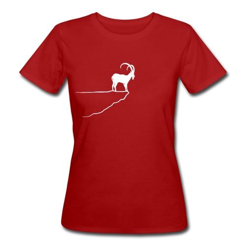 tier t-shirt steinbock alpen berge klettern ibex alps allgäu tirol bergziege - Frauen Bio-T-Shirt