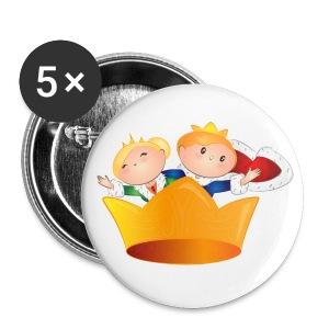 Buttons Koning Willem Alexander & Maxima - Buttons middel 32 mm