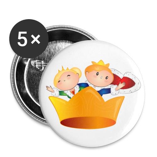 Buttons Koning Willem Alexander & Maxima - Buttons groot 56 mm