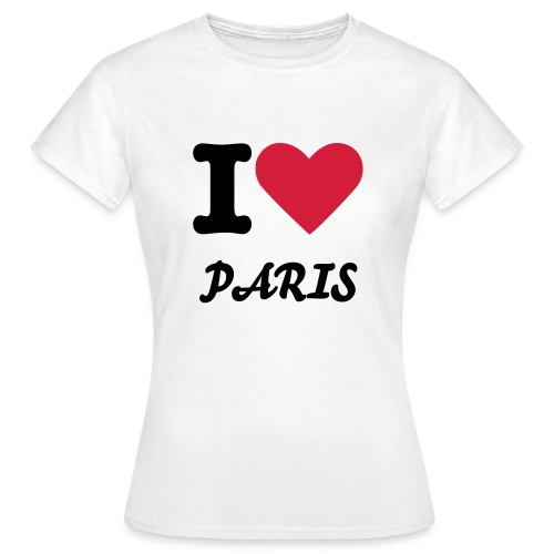 i love paris shirt - Vrouwen T-shirt