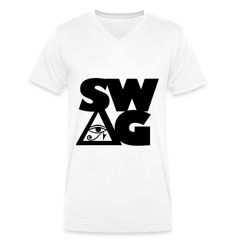 SWAG - Mannen bio T-shirt met V-hals van Stanley & Stella