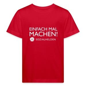Kinder-Shirt Machen!, rot - Kinder Bio-T-Shirt