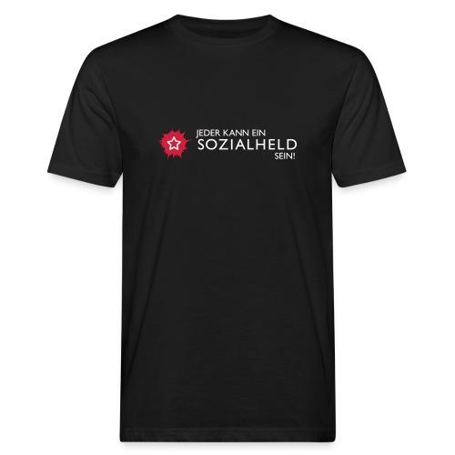 Männer-Shirt Held, schwarz - Männer Bio-T-Shirt