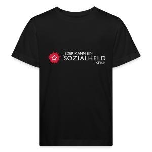 Kinder-Shirt Held, schwarz - Kinder Bio-T-Shirt