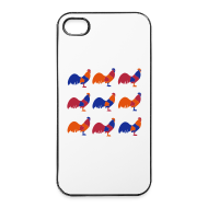 Phone & Tablet Cases ~ iPhone 4/4s Hard Case ~ Bright Chicken Lover's iPhone 4, iPhone 4s Case