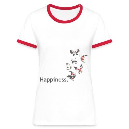 Happiness. Butterfly. Schmetterling. - Frauen Kontrast-T-Shirt
