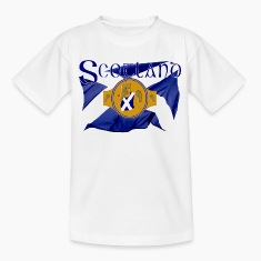 Scotland boxing flag and belt graphic Shirts