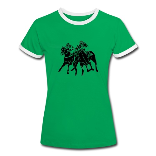 Da. T-Shirt Galopprennen - Frauen Kontrast-T-Shirt