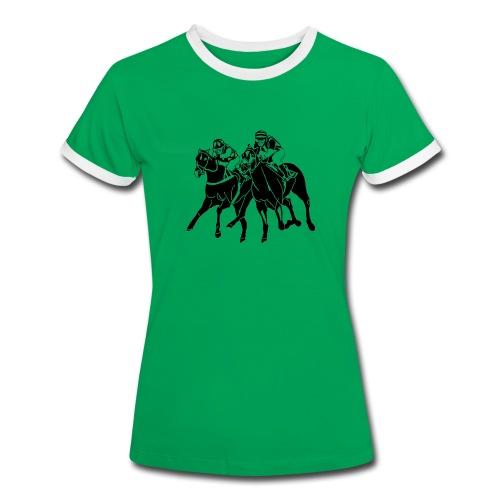 Da. T-Shirt Galopprennen - Frauen Kontrast-T-Shirt