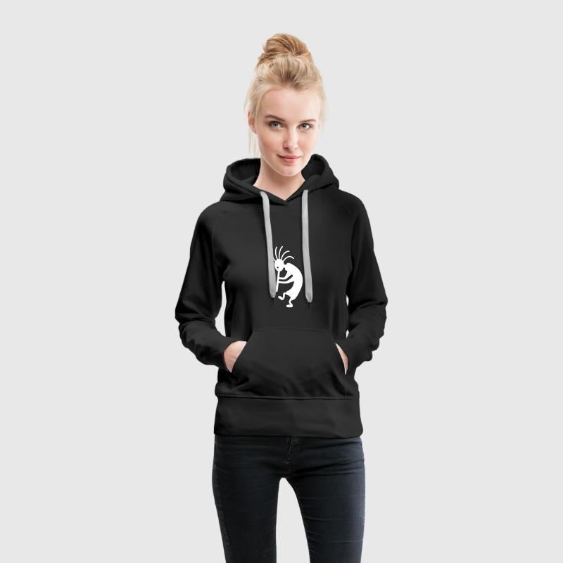 kokopelli Sweat-shirts - Sweat-shirt à capuche Premium pour femmes