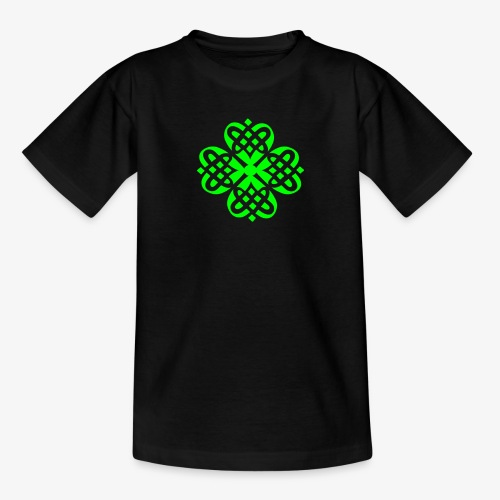 Shamrock Celtic Knot decoration patjila  - Teenage T-Shirt