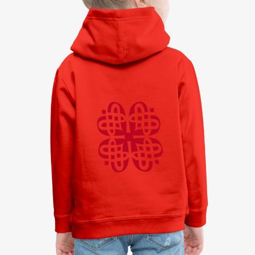 Shamrock Celtic Knot decoration patjila  - Kids' Premium Hoodie